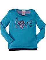 Design History Love Sweater Tunic (Toddler/Kid) - Sky Blue-5