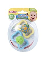 Nuby 2 Pack Pacifiers 3D Bug (Colours And Designs May Vary)