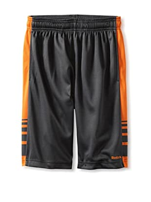 Reebok Boy's 8-20 RBK Mesh Short with Contrast Side (Graphite)