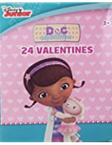 Disney Junior 24 Count Doc Mc Stuffins Kids Classroom Valentine Exchange Cards 2 Pack (48 Total Cards)