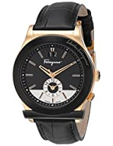 Salvatore Ferragamo Men's F62LDT5213 S009 1898 Rose Gold-Plated Watch with Leather Band
