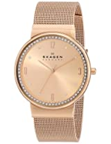 Skagen Ancher Analog Pink Dial Women's Watch - SKW2130