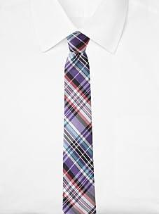 Ben Sherman Men's Morton Plaid Tie (Purple)