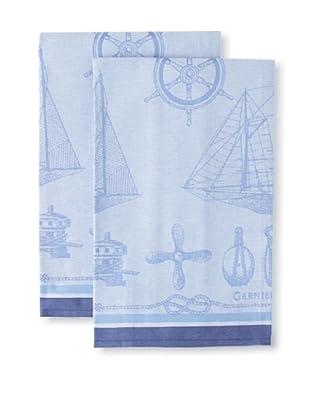 Garnier-Thiebaut Set of 2 Bateaux Marine Kitchen Towels