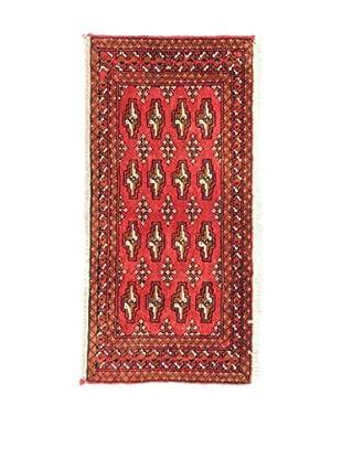 L'EDEN DEL TAPPETO Alfombra Yamut Rojo/Multicolor 48 x 98 cm