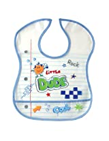 Luvable Friends PEVA Feeder Bib Blue - little dude