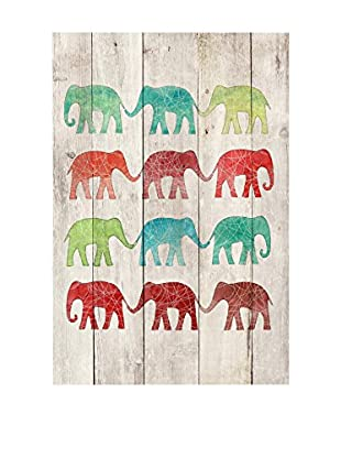 Surdic Panel de Madera Elephant Multicolor
