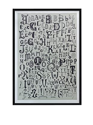 Póster Enmarcado Letters