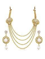 Meenaz Traditional Necklace Sets Jewellery Sets Gold Plated With Earrings For Women,Girls NL110