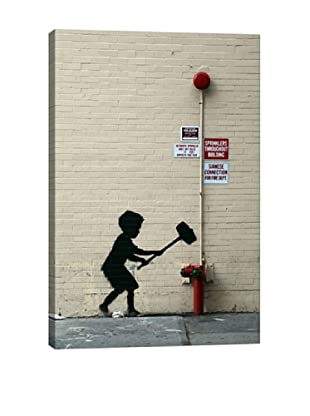 Banksy Hammer Boy Canvas Print