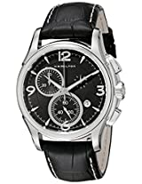 Hamilton Men's H32612735 Jazzmaster Black Chronograph Dial Watch