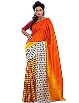 Vibes Women's Champa Bhagalpuri Saree with Blouse ( S30-5643_Multi-Coloured)