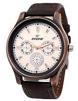 Dezine DZ-GR0401-WHT-BRW analog watch
