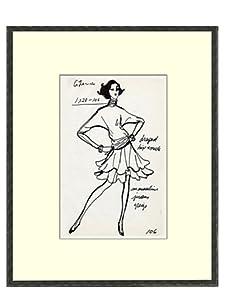 Vintage Women's G Laroche Fashion Sketch c.1968