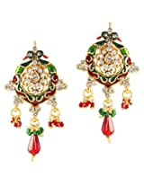 Touchstone Alluring Multicolour Austrian Diamond Hanging Earrings DGETE088-01A--G
