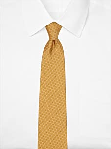 Nina Ricci Men's Dotted Jacquard Tie, Yellow