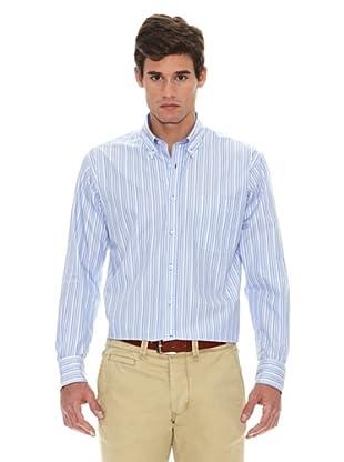 Turrau Camisa Raya Triple Bicolor (Azul)