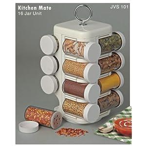 JVS Kitchen Mate 16 Jar (Spice Rack)