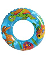 Intex Ocean Reef Transparent 24 inch Swim Ring, Multi Color