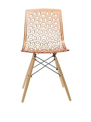 Euro Home Collection Sandra Chair, Orange