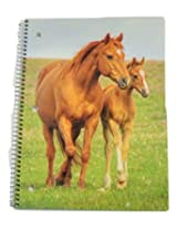 Staples Wide Ruled Animal Spiral Notebook ~ Horse and Foal (70 Sheets, 140 Pages)