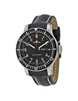 Fortis Official Cosmonauts Automatic Black Dial Black Leather Men's Men's Watch (647.10.11 L01)
