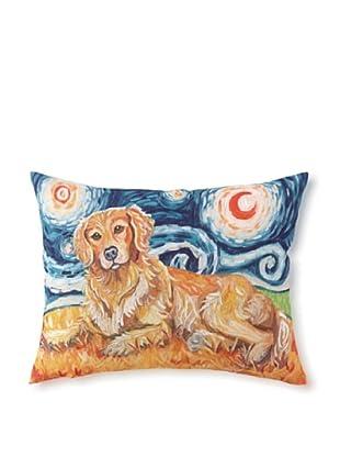 Van Growl Golden Retriever Pillow