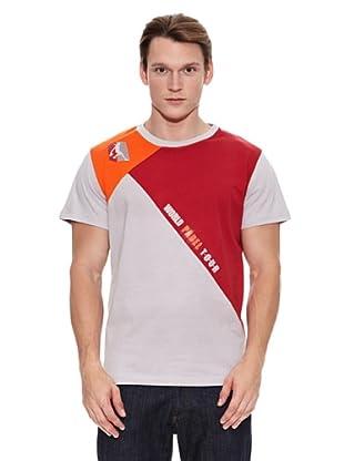 Mystica Camiseta Wpt Padang (Gris / Rojo)