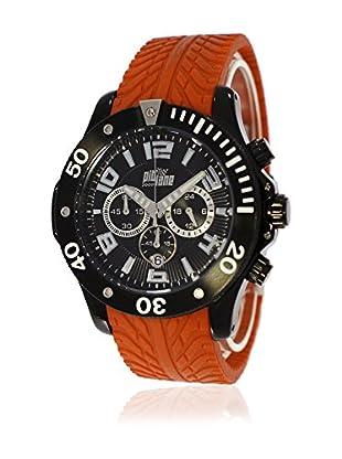 Pit Lane Uhr mit Miyota Uhrwerk Pl-1003-4 orange 48 mm