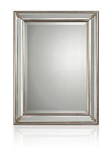 Silver Leaf Border Mirror