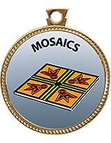 """Keepsake Awards Mosaics Gold Award Disk """"Creative Arts and Hobbies Collection"""" 1 inch dia"""