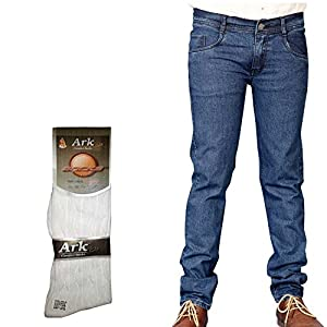 Coaster Men's Jeans with Free 1 Pair of Assorted Socks AG-MD-7-Sks