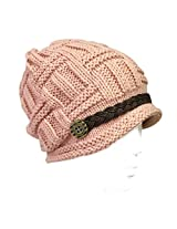 Wrapables Knitted Slouched Ski Cap, Pink, Pink