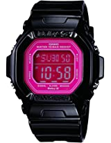 Casio Women's BG5601-1DR Baby-G Square Luminous Color Black Digital Watch