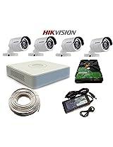 Hikvision 4 Bullet Outdoor Cameras & 4 Channel DVR HDMI/VGA & WD 500 GB Hardisk
