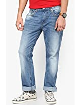 Blue Low Rise Regular Fit Jeans Pepe Jeans