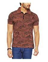 Do U Speak Green? Men's Polo Organic Cotton T-Shirt (DUSG_224_Deep Brown_Large)