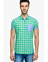 Checked Green Casual Shirt Status Quo