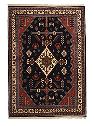 Darya Rugs Persian One-of-a-Kind Rug, Black, 3' 9