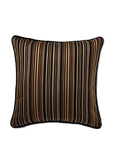 Mystic Valley Traders Multi Stripe Pillow (Black/Brown/Silver/Olive)