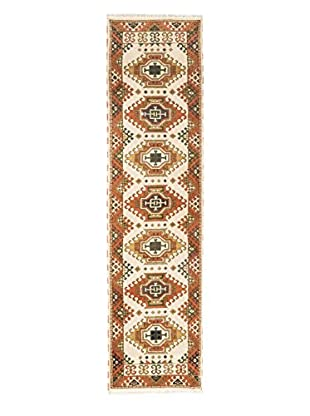 Hand-Knotted Royal Kazak Rug, Copper/Cream, 2' 7