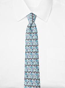 Emilio Pucci Men's Geometric Circle Tie, Purple/Grey