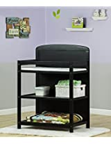 Dream On Me 2 in 1 Full Size Crib and Changing Table Combo, Black