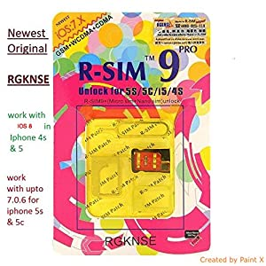 R-sim 9 Pro Unlock for iPhone 5S/5C/5/4S,ALL iOS upto 7.0.4