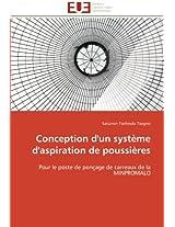 Conception D'Un Systeme D'Aspiration de Poussieres (Omn.Univ.Europ.)