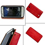 i-KitPit PU Leather Flip Case For Nokia X dual SIM / x+ Dual SIM (RED)
