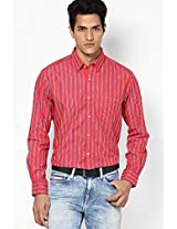 Red Full Sleeve Casual Shirt