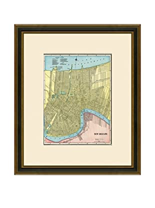 Antique Lithographic Map of New Orleans, 1883-1903