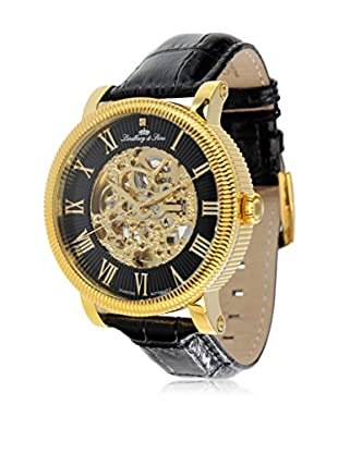 Lindberg & Sons Automatikuhr Automatic Watch With Skeleton Dial schwarz 43  mm