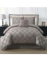 VCNY Santiago 4-Piece Comforter Set, Queen, Platinum